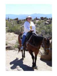horseback riding in the Phoenix desert