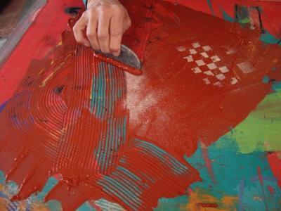 Clay Painting at the ArtSpa