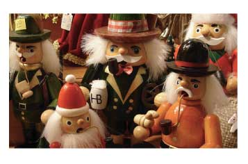 German smoker dolls at a Christmas marke