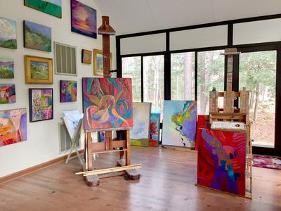 Studio and gallery of landscape paintings