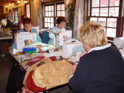 Busy working on quilts.