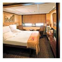 the interior of a river cruise ship