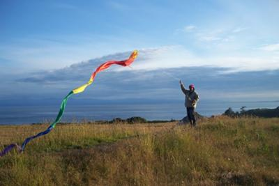 San Juan Island kite flying