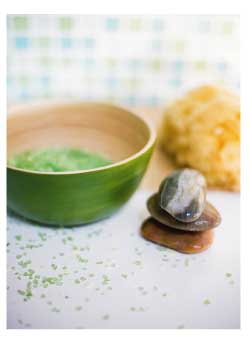 ingredients for a seaweed scrub