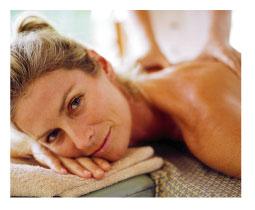 woman getting a massag