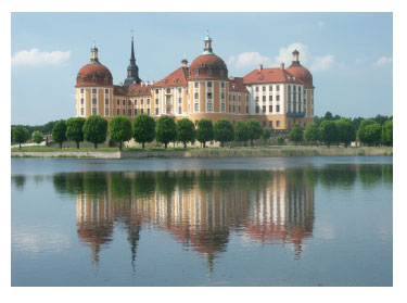 castle on the elbe river in germany