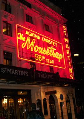 Theatre Marquee for The Mousetrap