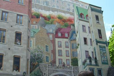 Trompe l'Oeil in Old Quebec renovated warehouse